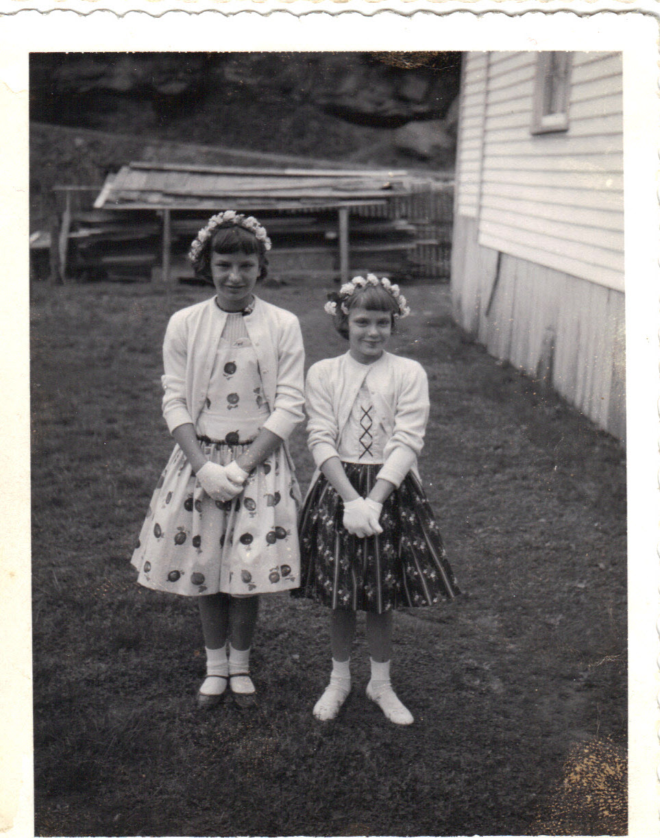 Nancy & Kay Easter 1957